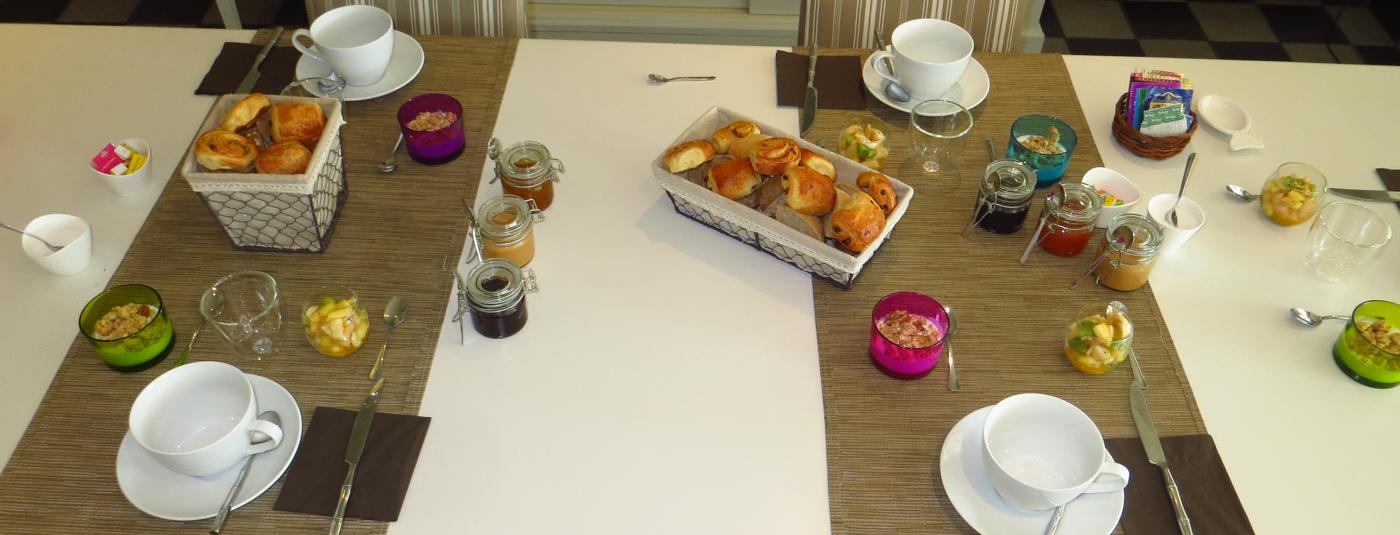Partir du bon pied avec notre réputé<strong> petit déjeuner</strong>